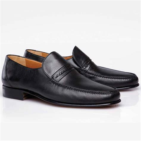 loafer image stemar jesolo nappa leather loafers black