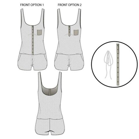 illustrator jersey tutorial women s jersey knit romper fashion flat template