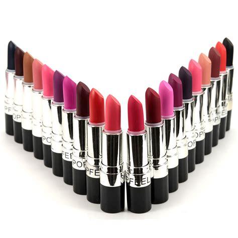 Promo Ecer No 18 Proof Lipstik Matte Longlasting By Me Now popfeel matte velvet lipstick wear waterproof proof cosmetic makeup balm