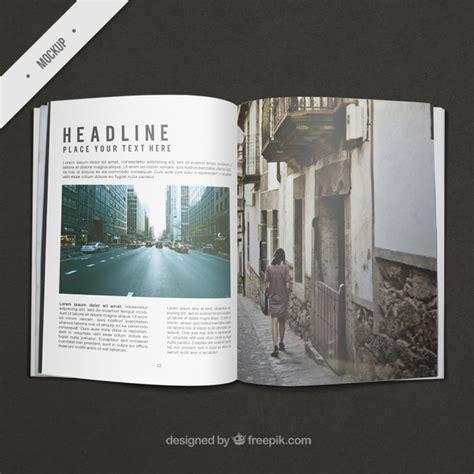 layout majalah psd modelo de revista de viaje descargar psd gratis