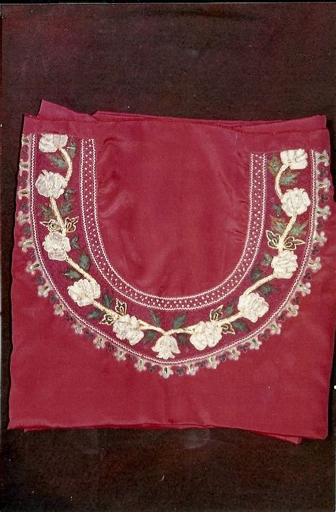 Handmade Embroidery Designs Suits - embroidery painted crepe suit length in lucknow