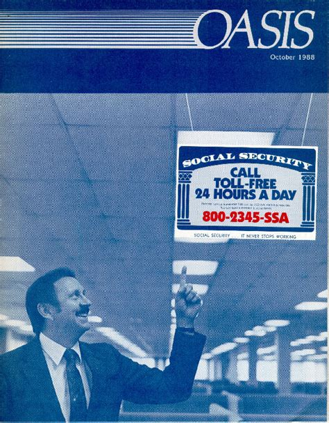 Social Security Office Toll Free Number by Social Security History Pages October 1988 Oasis Cover