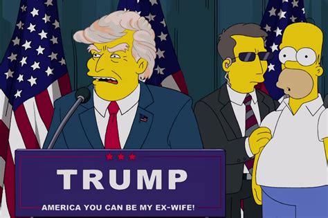 Donald Trump Simpsons   ratm und the simpsons sahen donald trump als