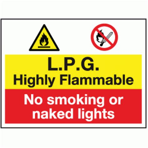 8 Signs That You Are Material by L P G Highly Flammable No Or Lights Sign