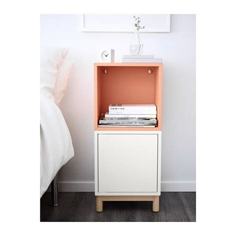 eket hack eket cabinet combination with legs white light orange