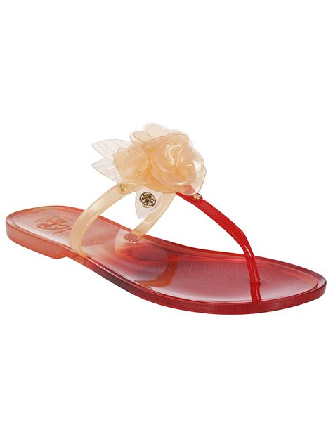 burch jelly slippers burch burch jelly blossom sandals pink
