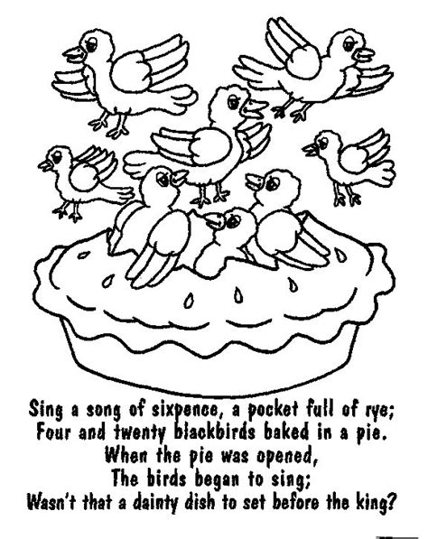 preschool coloring pages cing sing a song of sixpence icolor quot nursery rhymes