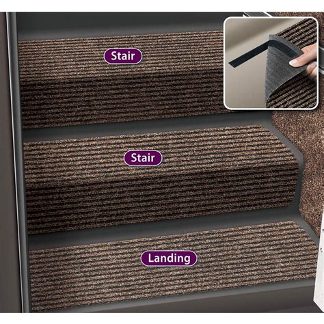 rug huggers decorian 8 inch step hugger landing rug brown prest o fit 5 1091 step rugs