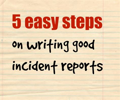 It Security Report Writing by All About Security 5 Easy Steps On How To Write A Incident Reports