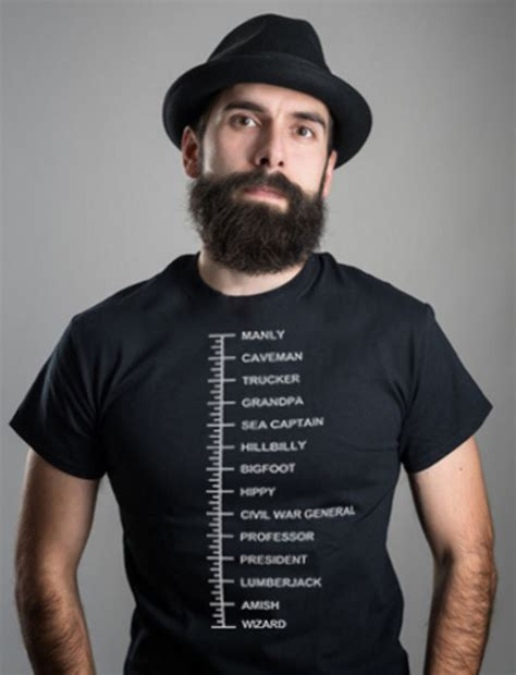 how to measure your beard beard length t shirt measurement chart hipster measuring