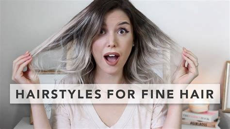 styles for fine thin hair youtube 3 quick and easy hairstyles for fine hair youtube