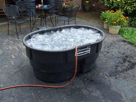 homemade bathtubs single person stock tank hot tub with bubbles from air