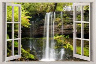 waterfall wall mural waterfall 3d window view removable decal home decor mural