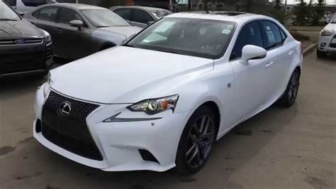 white lexus is 250 new ultra white on red 2015 lexus is 250 awd f sport