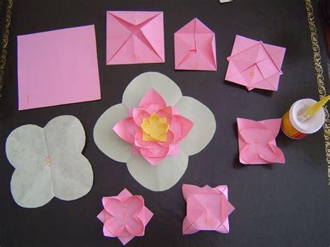 Lotus Flower Paper Folding - 22 best paper flowers images on paper flowers