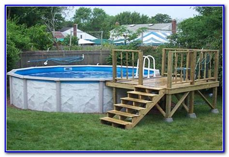 Pool Deck Plans by Above Ground Pool Deck Plans Images