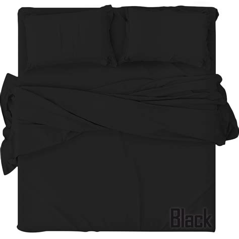 black bed sheets plain fitted bed sheets dyed 100 polycotton single double