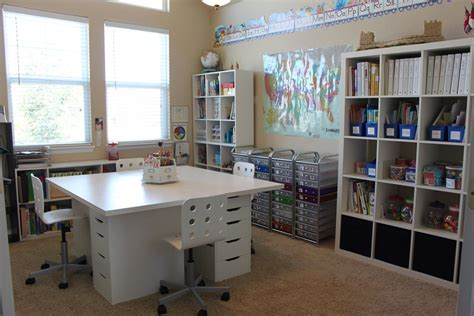 craft room setup our schoolroom ala ikea confessions of a homeschooler