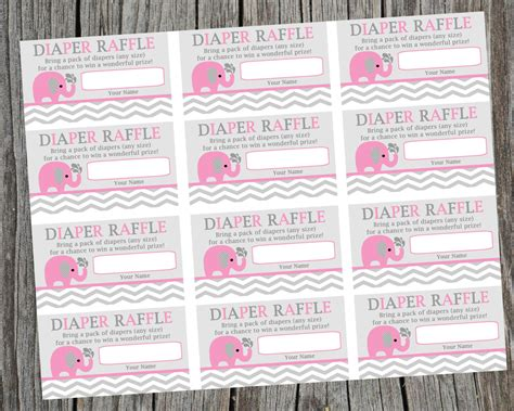 free printable raffle tickets for baby shower free download diaper raffle tickets new calendar