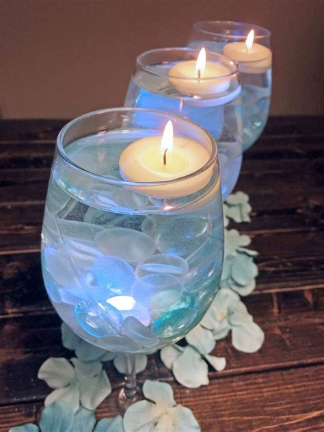 How to make a simple wine glass centerpiece   great for