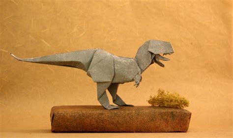 Origami Tyrannosaurus Rex - pack tissue paper 30x30cm