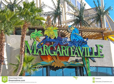 Margaritaville Restaurant Gift Shop In Las Vegas Editorial Jimmy Buffet Store