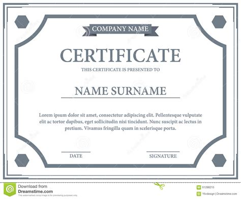 certificate template stock vector image 61288210