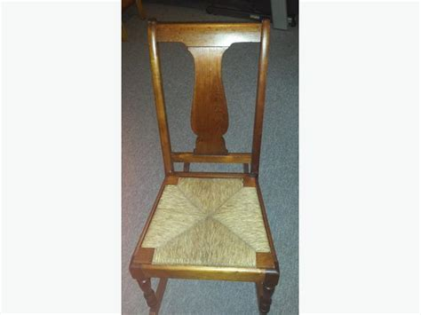 Small Armless Chair Fiddleback Armless Youth Or Small Rocking Chair