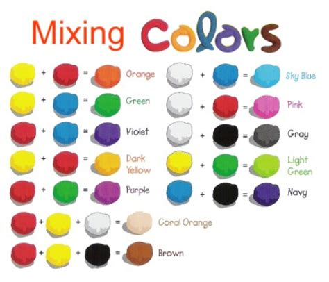 get color craftlink iclay mix them to get more colors