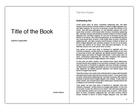 Creating The Interior Of Your Book With Tredition Templates Process Book Template