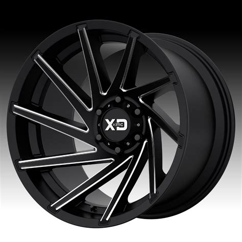 Handmade Wheels - kmc xd series xd834 cyclone satin black milled custom