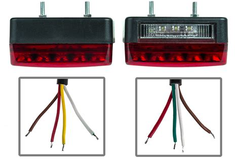 combo led trailer light kit 4 quot led stop turn light