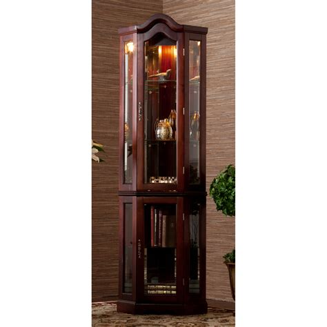 Lighted Corner Curio Cabinet Ideas The Clayton Design