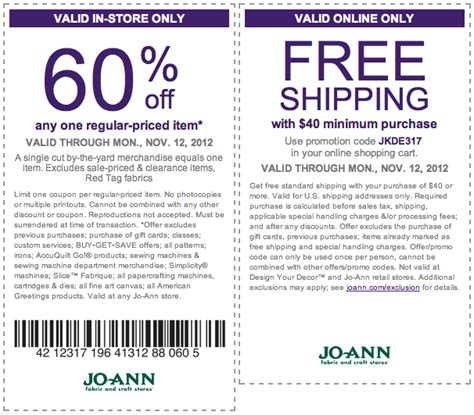 printable joann fabric coupons 2015 joann fabrics coupons printable 2015 2017 2018 best