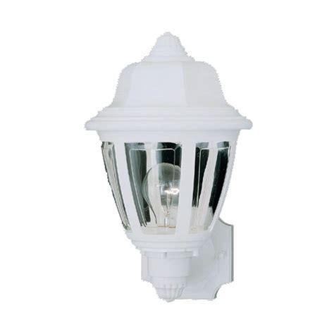 plastic outdoor wall light fixtures thomas lighting 1 light matte white outdoor wall mount