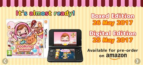 3ds Cooking Sweet Shop Asia cooking sweet shop sur actugaming net