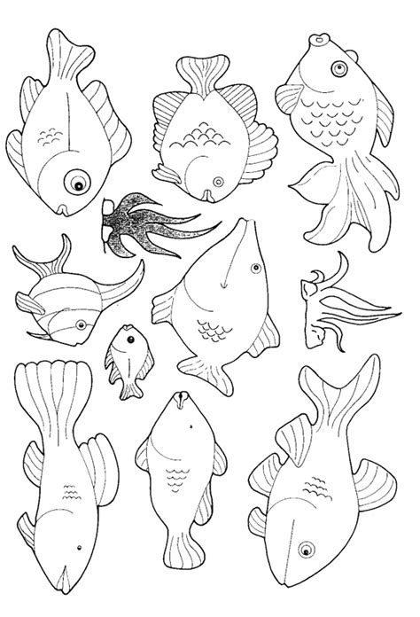 free coloring pages of or fish