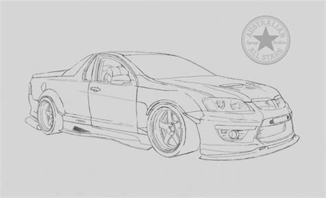 Coloring Pictures Of Holden Cars | holden utes free coloring pages