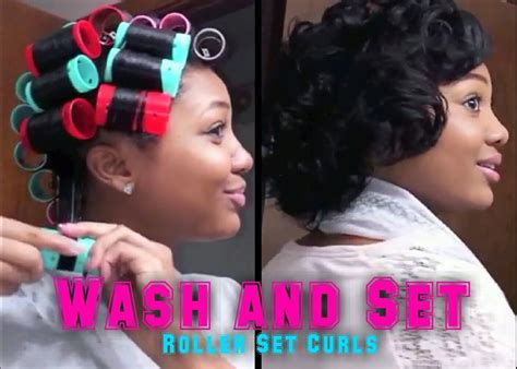 wash and set styles for black women updated roller set hair tutorial wash set your hair