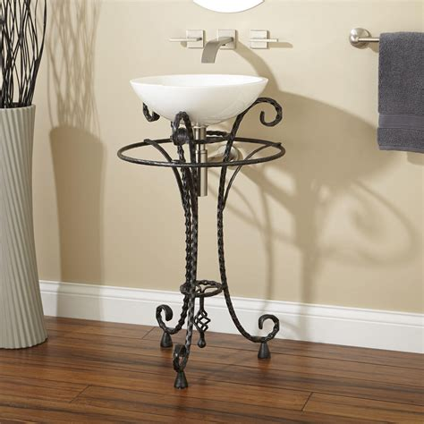 bathroom sink stand delarue wrought iron sink stand with towel bar pedestal