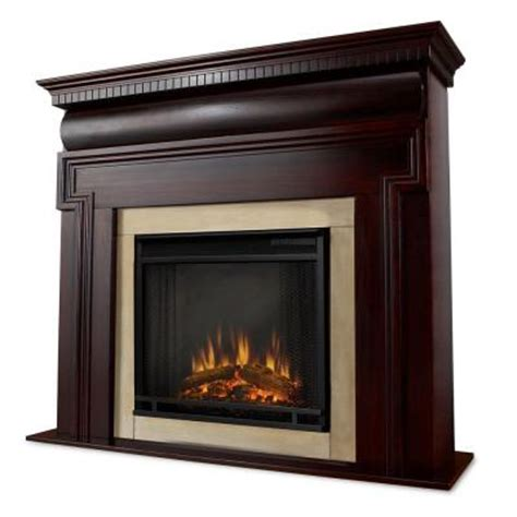 Home Depot Fireplace Logs by Real Mt Vernon 48 In Electric Fireplace In