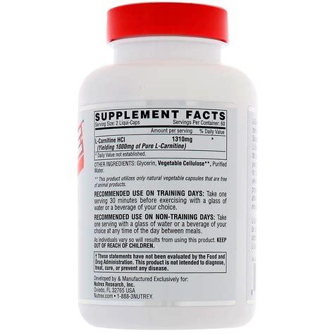 Nutrex L Carnitine nutrex research labs lipo 6 carnitine 120 liquid capsules iherb