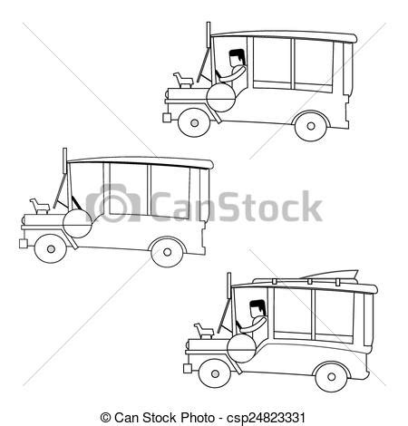 philippine jeep drawing vectors of philippines jeep philippine jeepney outline