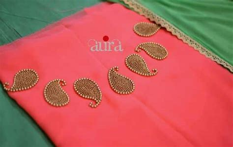 boat neck embroidery designs for kurtis hand embroidery mango beads boat neck for kurtis simple