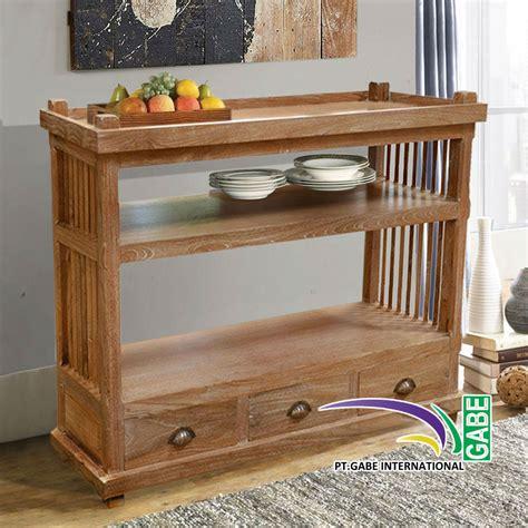 Rak Piring Kayu Jati rak dapur kayu desainrumahid