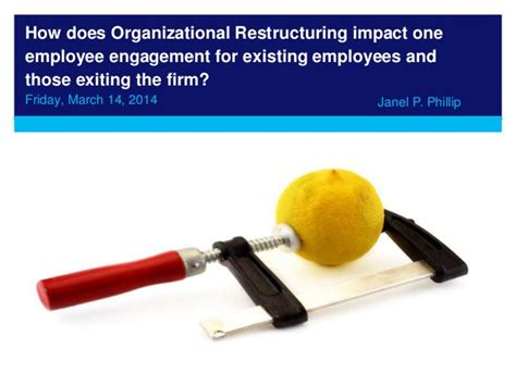Restructuring Mba by 2014 Employee Engagement In Organisational Restructuring