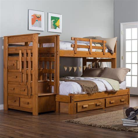 woodcrest heartland twin  full stairway bunk bed