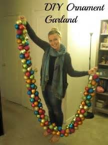 upside down grace diy holiday ornament garland