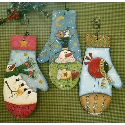 tole painting christmas ornament patterns the decorative painting store mitten ornaments newly added pattern packets
