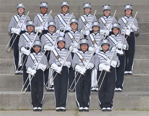 sections of a marching band tcb trombone